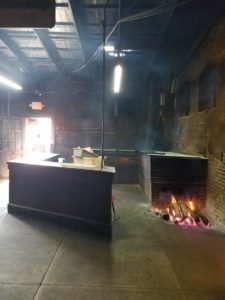 Photo of cross flow brick oven at Smitty's Market in Lockhart, Texas.